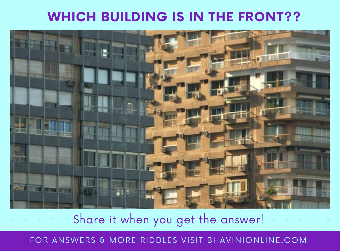 whatsapp picture riddle which building is in the front